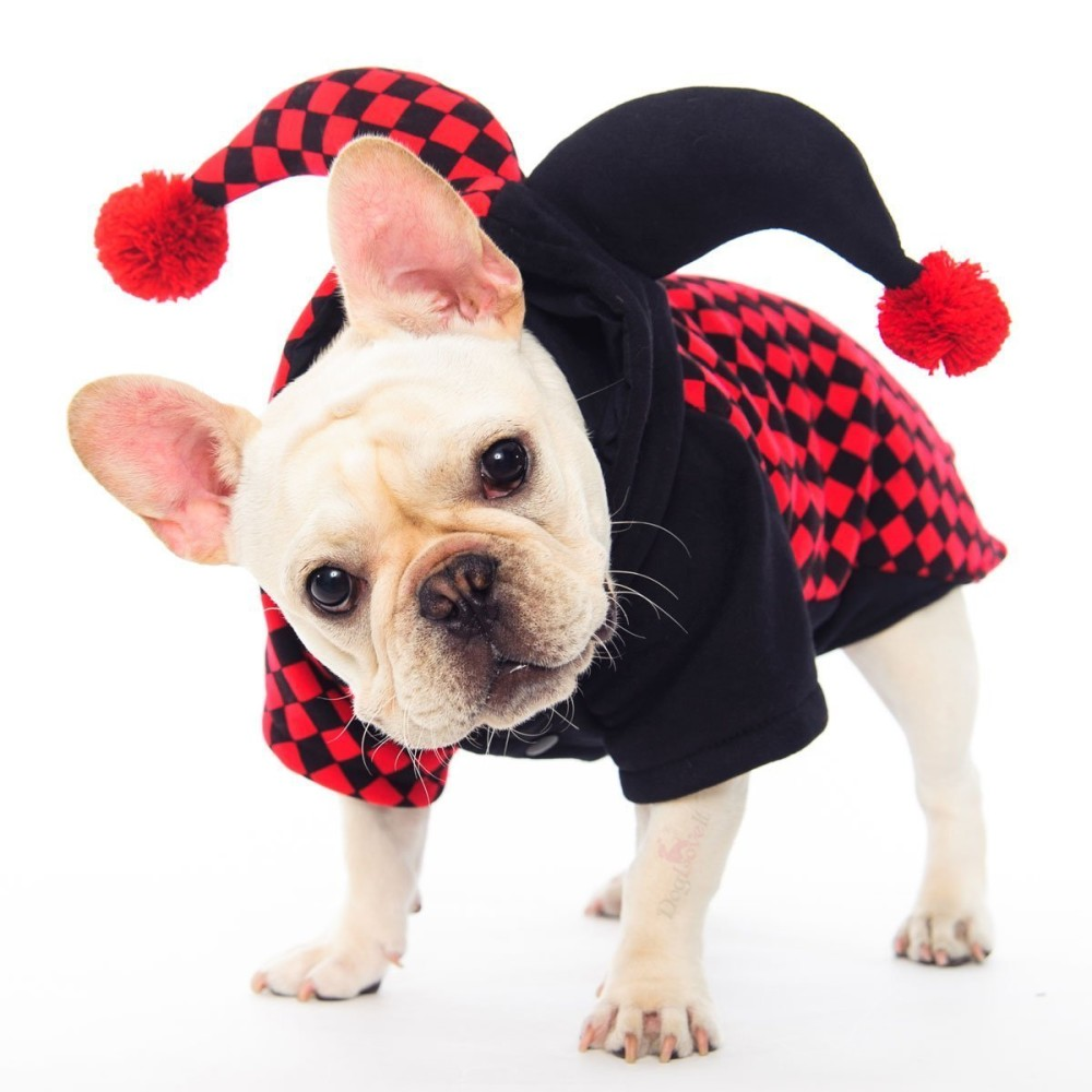 dogloveit halloween clown costumes soft dog clothes for dog cat puppy petx small - Clothes Halloween