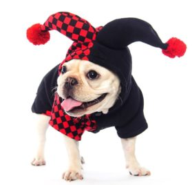 Dogloveit Halloween Clown Costumes Soft Dog Clothes For Dog Cat Puppy Pet,X-small 2