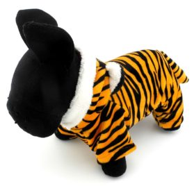 ESINGYO Pet Puppy Apparel Small Dog Cat Clothes Warm Fleece Tiger Halloween Costume Party Clothing 9
