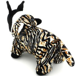 ESINGYO Pet Puppy Apparel Small Dog Cat Clothes Warm Fleece Tiger Halloween Costume Party Clothing Black 2