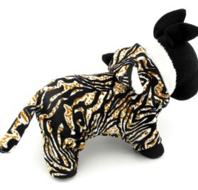 ESINGYO Pet Puppy Apparel Small Dog Cat Clothes Warm Fleece Tiger Halloween Costume Party Clothing Black