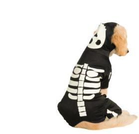 Glow in the Dark Skeleton Pet Costume
