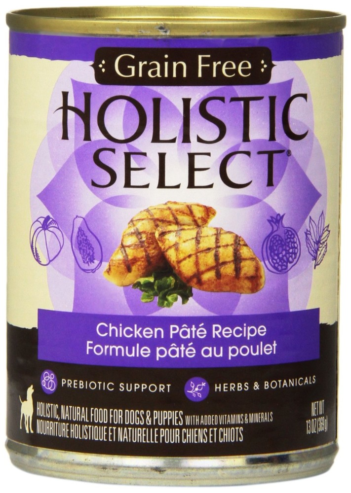 Holistic Select Natural Grain Free Wet Canned Dog Food, Chicken Recipe, 13-Ounce Can (Value Pack of 12)