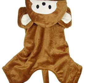 PET CONDO Pet Cat Dog Clothes Monkey Costume Hoodie Velvet Coat Jumpsuit Small Dog Clothes XS S M L XL