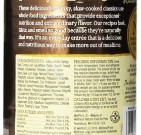 Wellness Natural Grain Free Wet Canned Dog Food, Turkey and Duck Stew with Potatoes and Cranberries, 12.5-Ounce Can (Pack of 12) 2