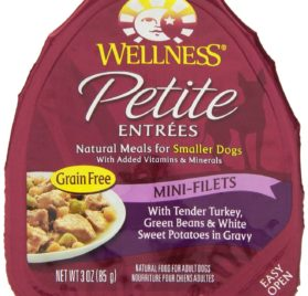 Wellness Petite Entrees Mini-Filets Natural Grain Free Wet Dog Food, 3-Ounce Can (Pack of 24)