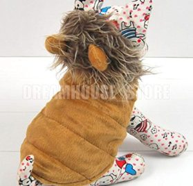 smalllee_lucky_store Pet Cat Dog Clothes Brown LION Dog Pet Halloween Costume Jacket Vest Clothes XS S M L XL 2