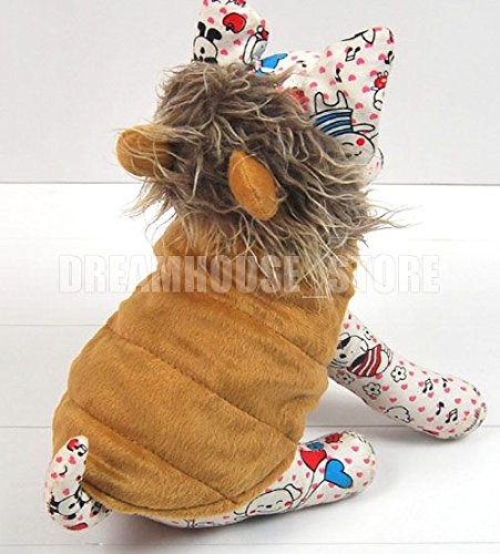 ... smalllee_lucky_store Pet Cat Dog Clothes Brown LION Dog Pet Halloween Costume Jacket Vest Clothes XS S M L ... & smalllee_lucky_store Pet Cat Dog Clothes Brown LION Dog Pet ...