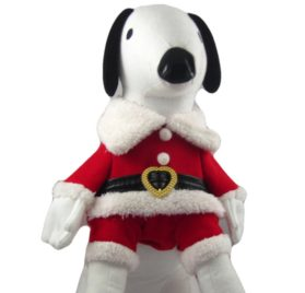 Alfie Couture Designer Pet Apparel - Christmas Santa Claus Suit Costume - Color Red