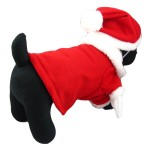 Alfie Couture Designer Pet Apparel - Christmas Santa Claus Suit Costume - Color Red 4