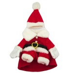Alfie Couture Designer Pet Apparel - Christmas Santa Claus Suit Costume - Color Red 6