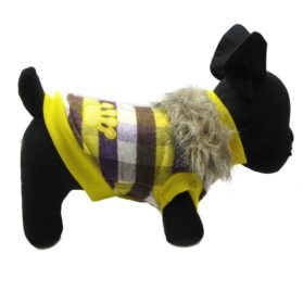 Alfie Pet by Petoga Couture - Presley Revisible Jacket - Color Yellow