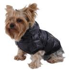 Anima Bubble Jacket with Fur Trim Hood, X-Small, Black 3