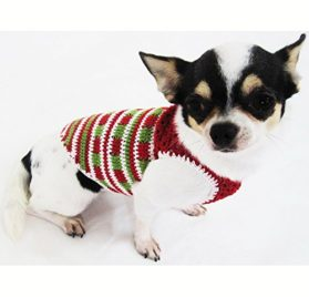 Casual Dog Clothes Cotton Crochet Pet Clothing Handmade Red Green White Christmas Costume Chihuahua, Teacup Dogs, Puppy, Small Dogs, Medium Dogs, Big Dogs Df34 By Myknitt - Free Shipping 2
