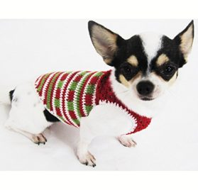 Casual Dog Clothes Cotton Crochet Pet Clothing Handmade Red Green White Christmas Costume Chihuahua, Teacup Dogs, Puppy, Small Dogs, Medium Dogs, Big Dogs Df34 By Myknitt - Free Shipping