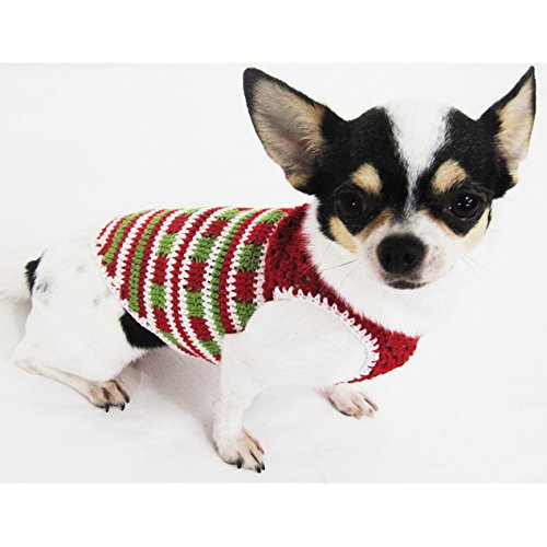 Casual Dog Clothes Cotton Crochet Pet Clothing Handmade Red Green White Christmas Costume Chihuahua Teacup Dogs Puppy Small Dogs Medium Dogs ...  sc 1 st  Chihuahua Kingdom & Casual Dog Clothes Cotton Crochet Pet Clothing Handmade Red Green
