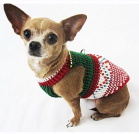 Christmas Dog Costumes Fancy Handmade Crocheted Celebrity Pet Clothing Puppy Clothes Chihuahua Apparel Df8 By Myknitt - Free Shipping 2