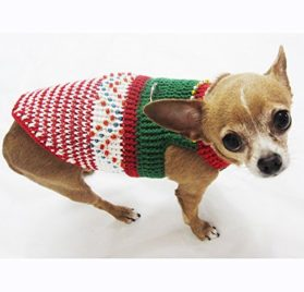 Christmas Dog Costumes Fancy Handmade Crocheted Celebrity Pet Clothing Puppy Clothes Chihuahua Apparel Df8 By Myknitt - Free Shipping
