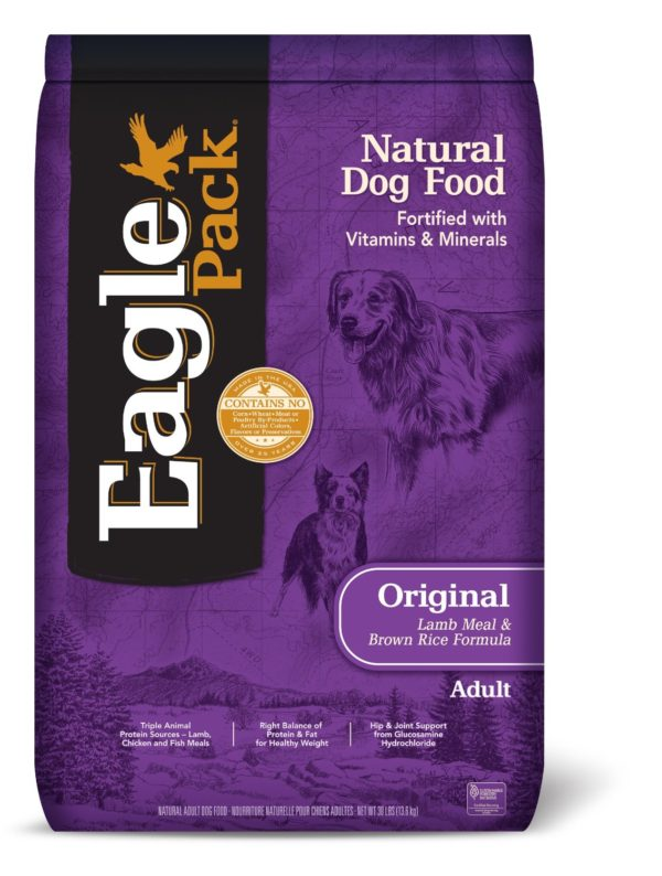 Eagle Pack Natural Dry Dog Food, Lamb Meal & Brown Rice Formula, 30-Pound Bag