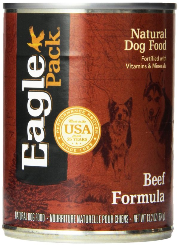 Eagle Pack Natural Wet Canned Dog Food, Beef Formula, 13.2-Ounce Can (Value Pack of 12)