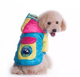Goliton® Hot selling small Medium cat dog Waterproof, windproof color matching clothing jacket for Winter cheap pet products cute dog clothes teddy pug pitbull Poodle Chihuahua small dogs, etc 2