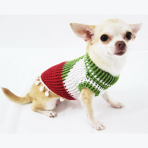 ... Myknitt Christmas Designer Dog Clothes Elf Pet Costume Sweater Handmade Df7 Free Shipping 4 ... & Myknitt Christmas Designer Dog Clothes Elf Pet Costume Sweater