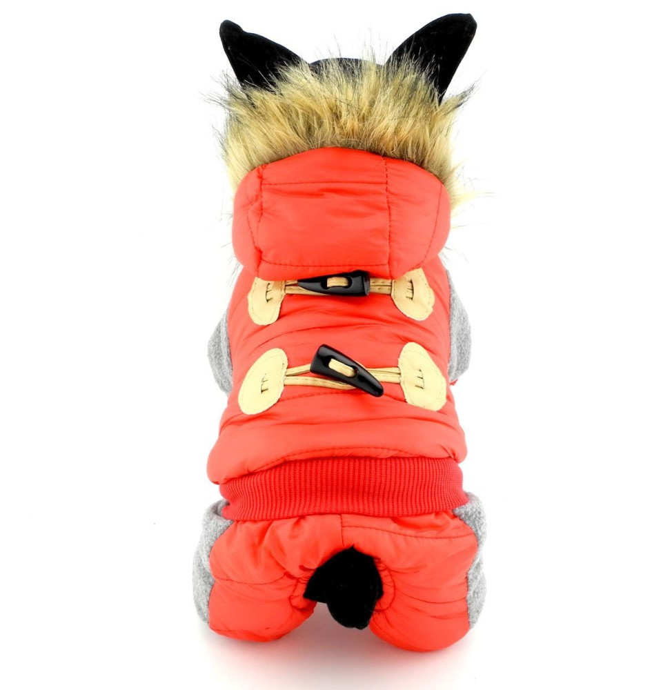 Petcondo Small Pet Clothes For Dogs Cats Fleece Lined Horn