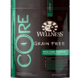 Wellness CORE Natural Grain Free Dry Dog Food, Wild Game Duck, Turkey, Wild Boar & Rabbit Recipe, 4-Pound Bag