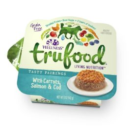 Wellness TruFood Tasty Pairings Natural Grain Free Wet Dog Food, Carrots, Salmon & Cod Recipe, 5-Ounce Can (Value Pack of 24)