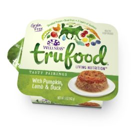 Wellness TruFood Tasty Pairings Natural Grain Free Wet Dog Food, Pumpkin, Lamb & Duck Recipe, 5-Ounce Can (Value Pack of 24)
