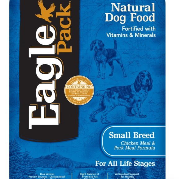 Eagle Pack Natural Dry Dog Food, Small Breed Adult Chicken & Pork Meal Formula, 15-Pound Bag