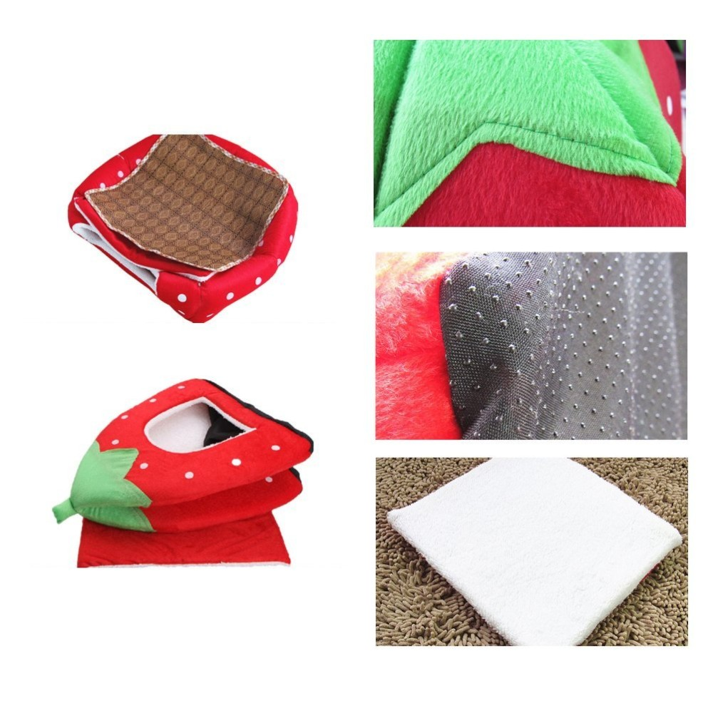 ... 5-Sizes Portable Foldable Luxury Soft Sponge Strawberry Cat Pet Dog Tent House Kennel Doggy ...  sc 1 st  Chihuahua Kingdom : dog tent house - memphite.com