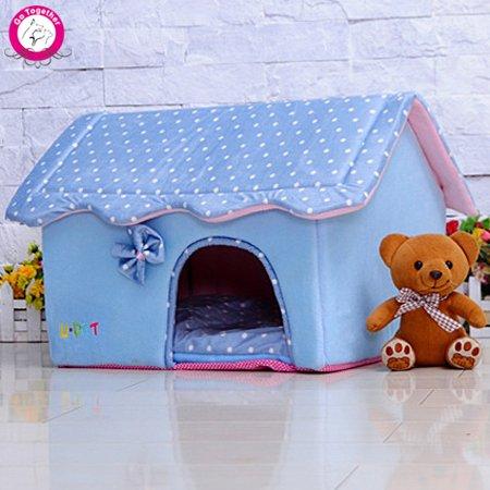 BOSUN(TM) Cute Folding Small Pet Dog House Soft Foams Padded