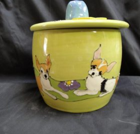 Chihuahua Treat Jar, Personalized at no Charge. Signed by Artist, Debby Carman.