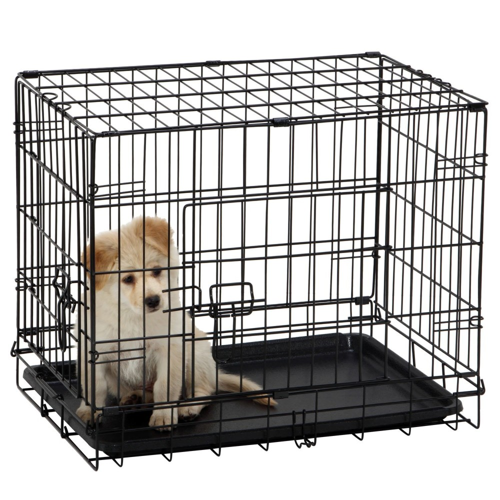 ollieroo dogs crate folding dog kennel wire pet cage crate multiple size - Collapsible Dog Crate
