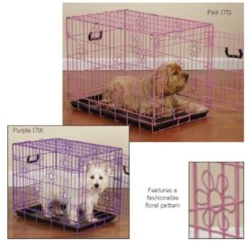 ProSelect Deco Dog Crates for Dogs and Pets - Pink