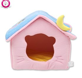WeMore(TM) Cute Moon Pet Dog House Soft Fleece Winter Warm Small Dog Nest Beds Folding Portable Chihuahua Puppy Kennel