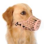 Alfie Pet by Petoga Couture - Gabby Adjustable Quick Fit Plastic Muzzle - Color- Beige