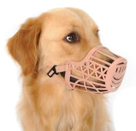 Alfie Pet by Petoga Couture - Gabby Adjustable Quick Fit Plastic Muzzle - Color- Beige