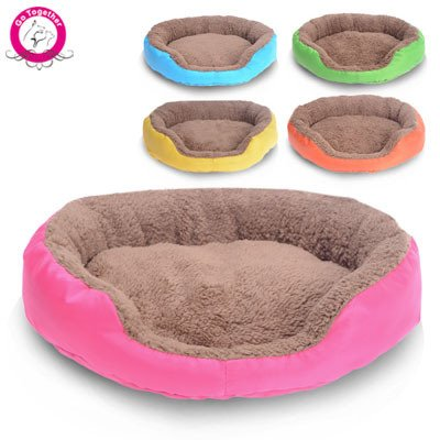 BOSUN(TM) Candy Color Small Puppy Dog Bed Soft Fleece Warm Round Chihuahua Dog Bed Indoor Oxford Bottom Pet Dog Cushion Camas Para Perros