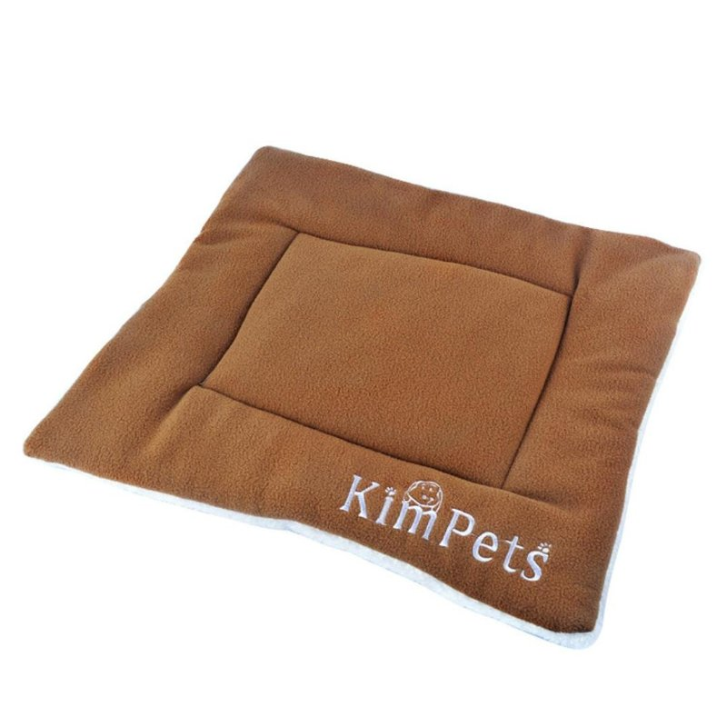 Binmer(TM)Pet Dog Bed Soft Crate Kennel Winter Warm Sleep Mat Rest Cat House Comfortable Bed Cushion Blanket for Little Dog 50cm-42cm