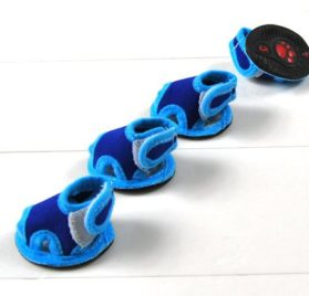 Blue Breathable Dog Puppy Shoe Summer Sandals Velcro Closure 2