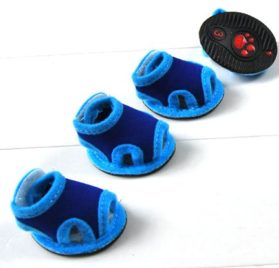 Blue Breathable Dog Puppy Shoe Summer Sandals Velcro Closure