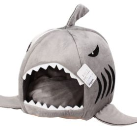 Dog Cat Puppy Pet Shark Cave Bed Mat Nesting Rest Knit Cotton Soft Warm Removable Cushion Mat Dog Puppy Cat House 2