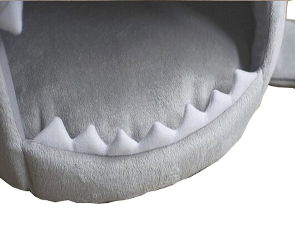 Dog Cat Puppy Pet Shark Cave Bed Mat Nesting Rest Knit Cotton