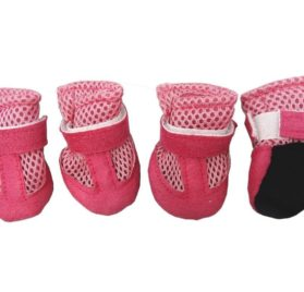 Hiado Indoor Dog Shoe Boots with Mesh and Velcro for Small Dogs