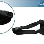 Pet Adjustable Dog Muzzle Fabric Nylon Comfortable Soft No Bark Bite Chew Black 3