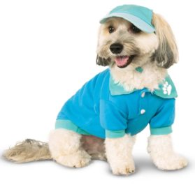 Rubies Costume Company 580352_S-M Blue Sport Cap for Pet, Small-Medium