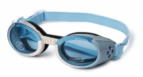 Doggles Dog Goggles ILS Ice Blue Frame - Blue Lens - Extra Small