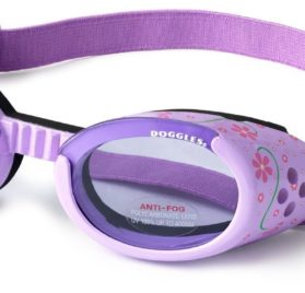 Doggles ILS Small Lilac Flower Frame with Purple Lens Dog Goggles